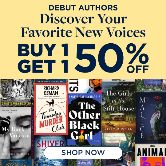 Buy 1, Get 1 50% Off Debut Authors!  Shop Now!