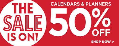 Shop 50% off Calendars & Planners