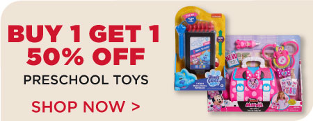 Buy 1, Get 1 50% off Preschool Toys!