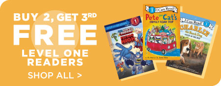 Shop All Level One Readers, Now Buy 2, Get 3rd Free!