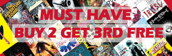 Buy 3 Get the 3rd Free Graphic Novels and Manga