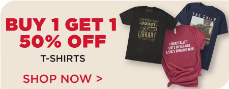 Buy 1, Get 1 50% off T-Shirts