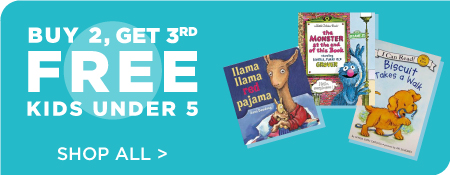 Shop All Books for Under 5, Now Buy 2, Get 3rd Free!