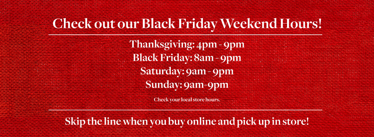Thanksgiving Day Hours - Check Your Store