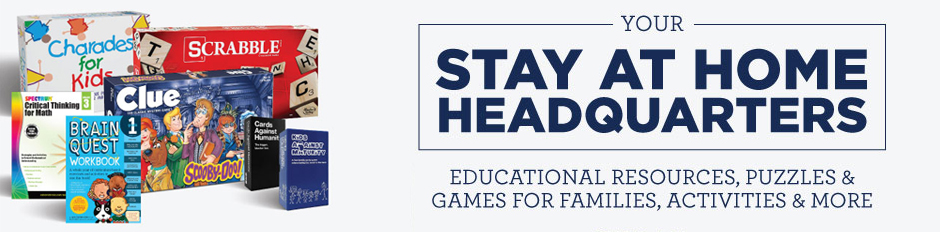 Shop Educational Resources, Games, Activites & More at Your Stay at Home Headquarters!