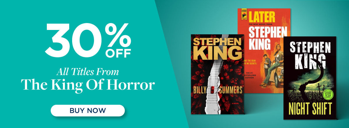 Shop 30% off Stephen King Books!!
