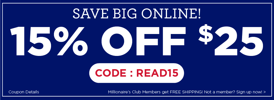Weekend Sale! Get 15% off purchases of $25 or more with coupon READ15. Start saving even more on our selection of Bargain books!