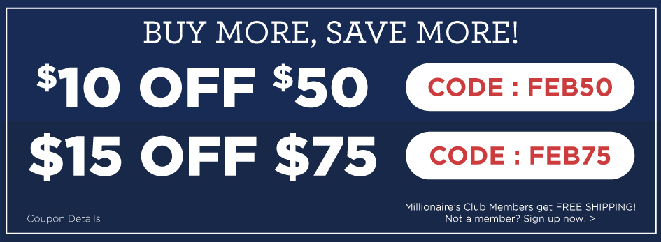 Get $10 off your purchase of $50 or more with coupon FEB50 and $15 off your purchase of $75 or more with coupon FEB75! Start Saving on New Releases!