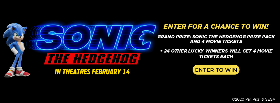Enter the Sonic The Hedgehog Sweepstakes Now!